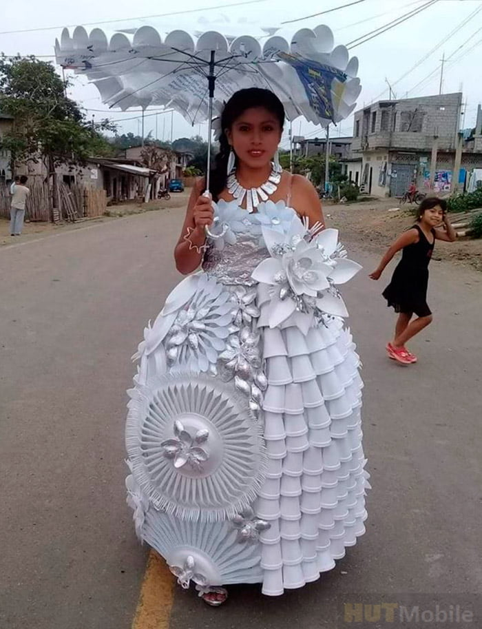 crazy wedding papedress