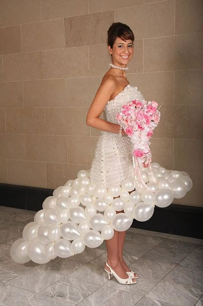 most funniest wedding dress balloon