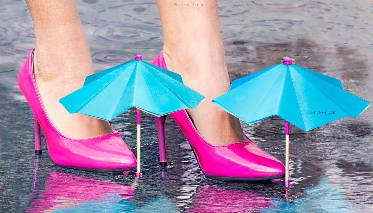 crazy heel shoe umbrella