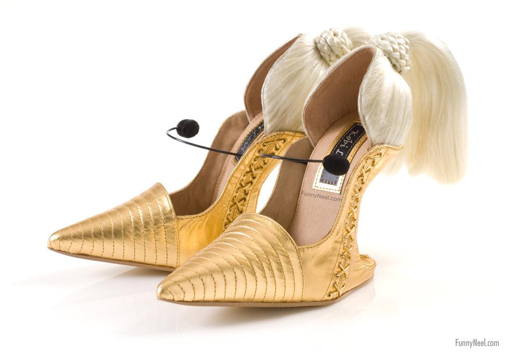 crazy heels shoe featherd