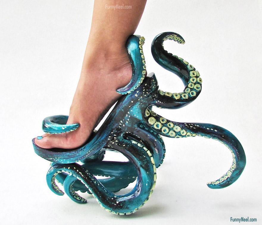 funniest heel shoe octopus