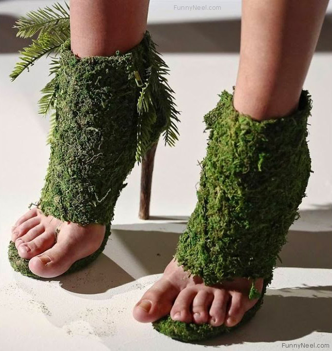 wierd heel shoe leaves heels