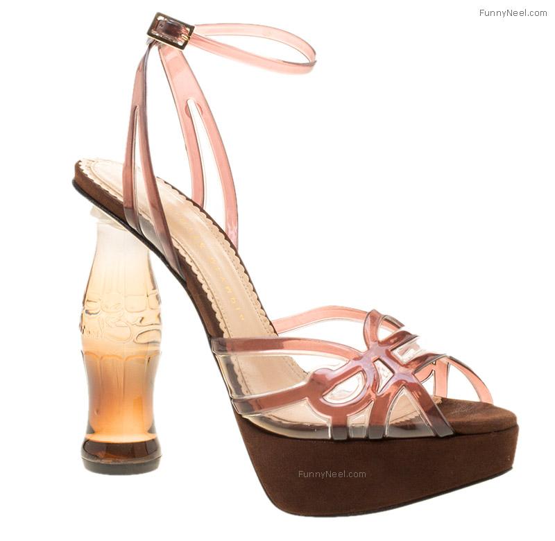 wierd heels shoe bottle shaped heels