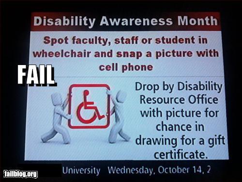 epic funny disability awareness fail
