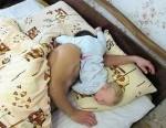 funny sleeping