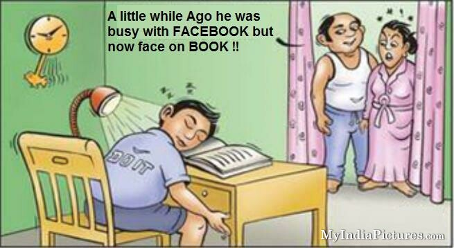 funny face on book
