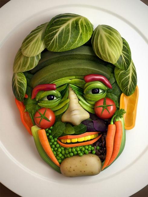 vegetable art face