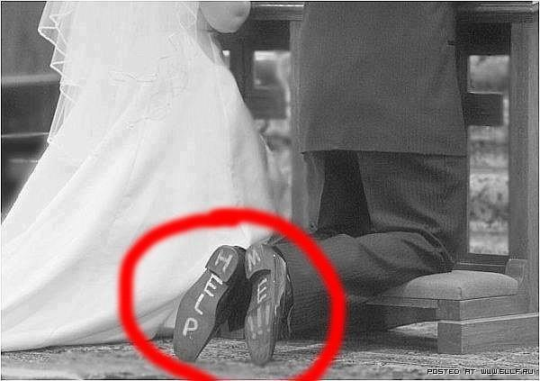 funny people wedding shoes