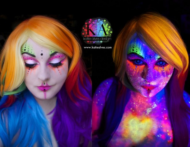 face painting glowing art by katiealves