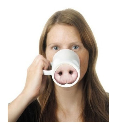 beautiful picture pig nose cup