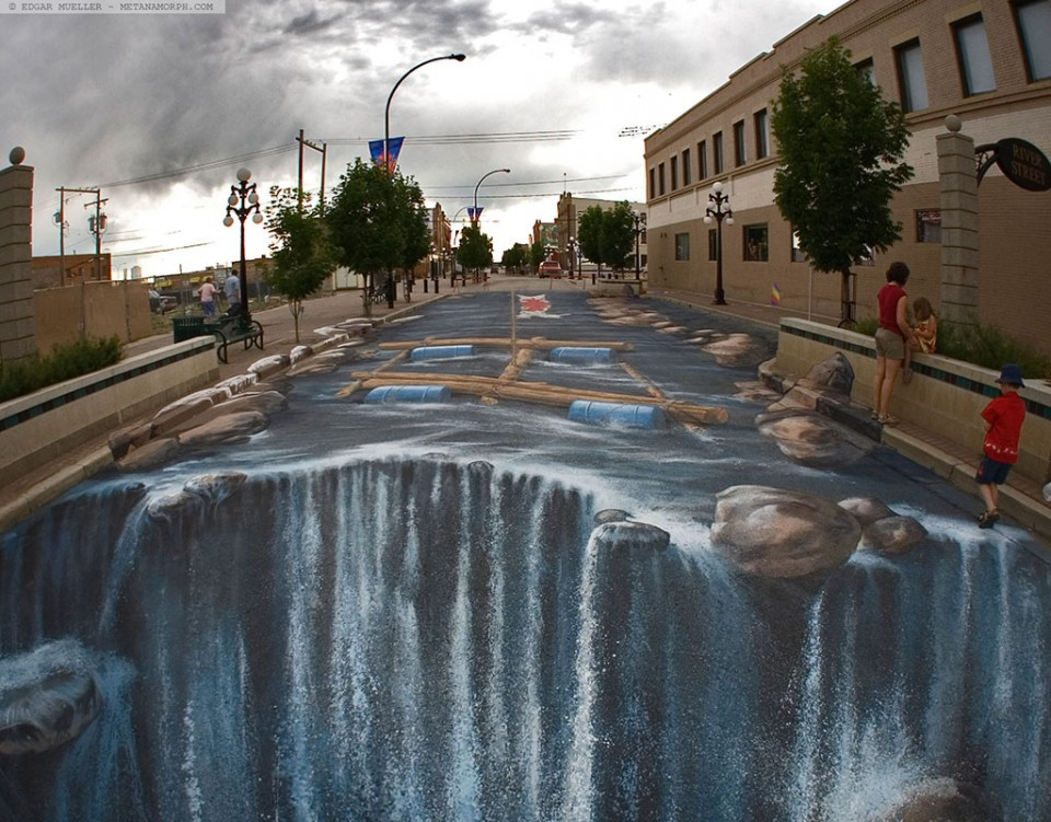 amazing picture  3d street art