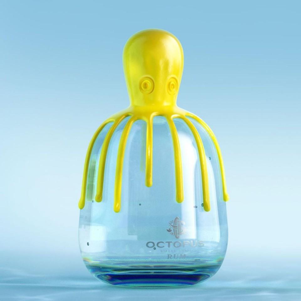 funny ads octopus bottle