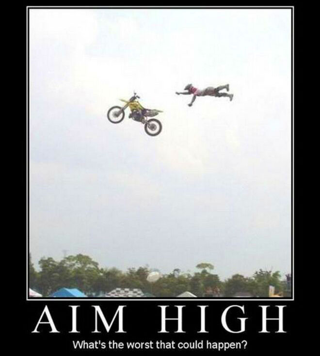Funny Inspiration aim high