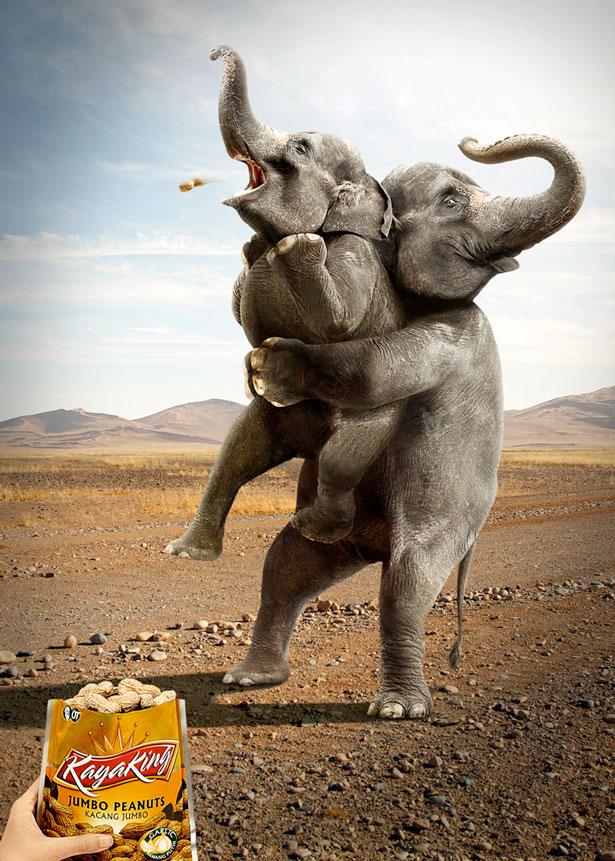 funny print ad elephant