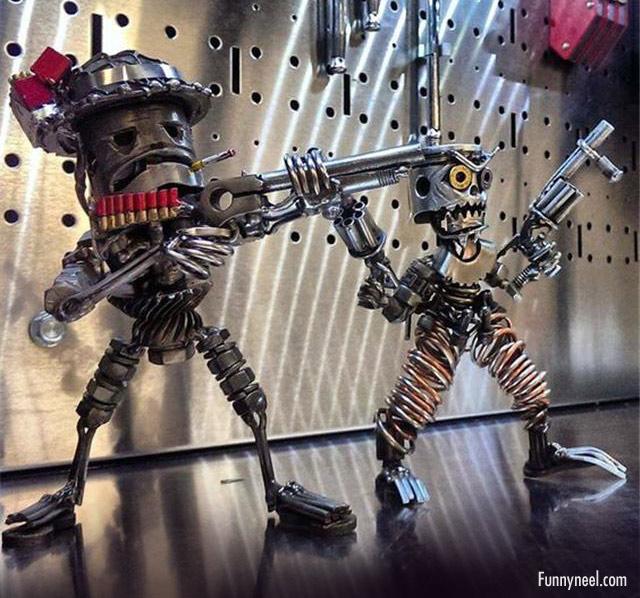 inspired metal art soldiers
