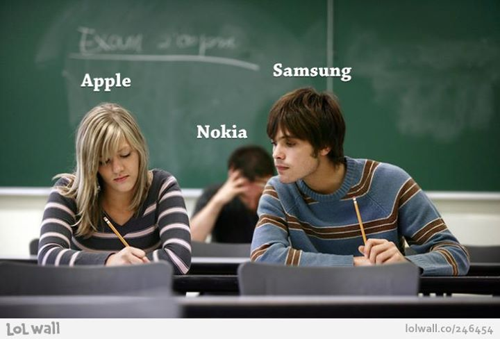apple vs samsung and nokia funny