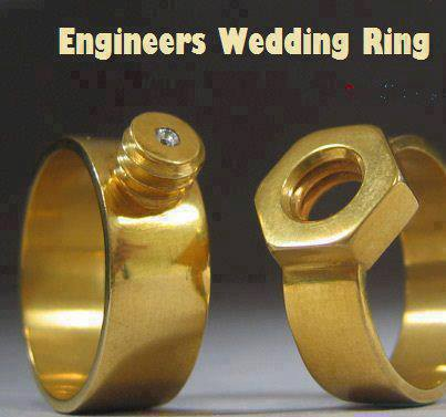 funny engineer wedding ring