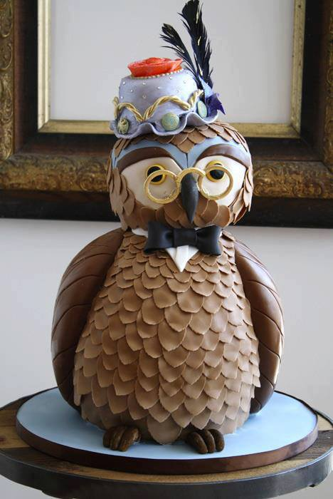 owl creative cake design