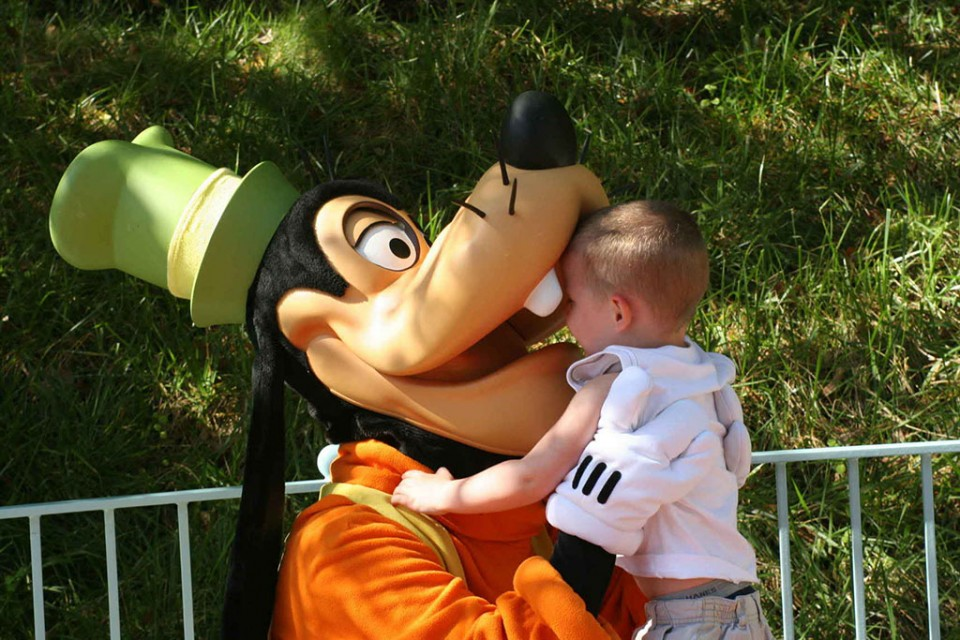 funny baby with goofy