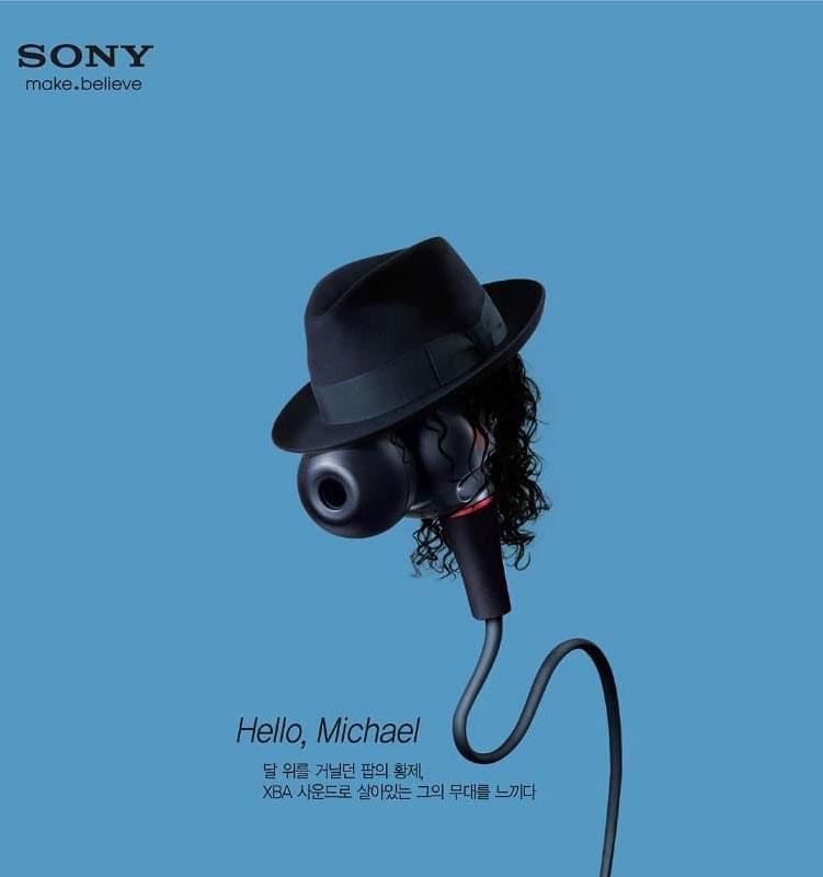 funny ads earphone michael jackson