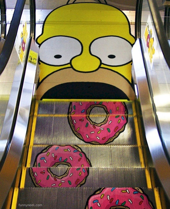 funny picture escalator paint