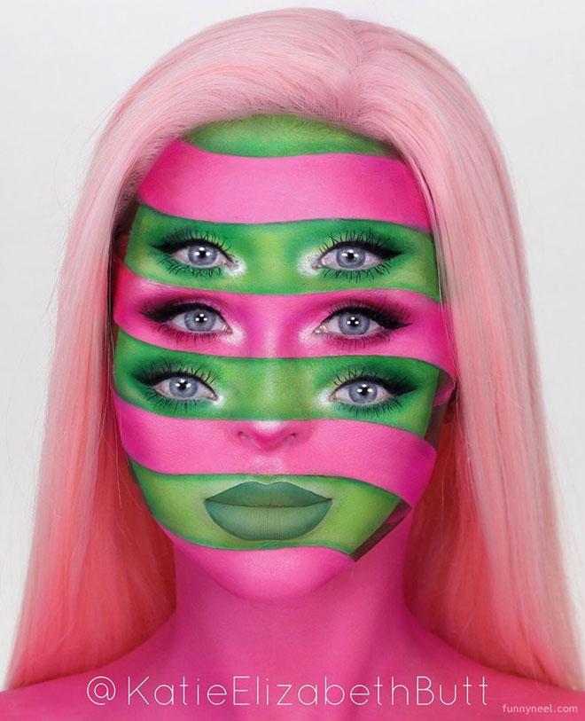 illusion colorful face by katieelizabethbutt