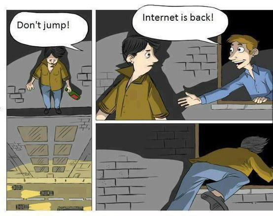 funny cartoon internet addict