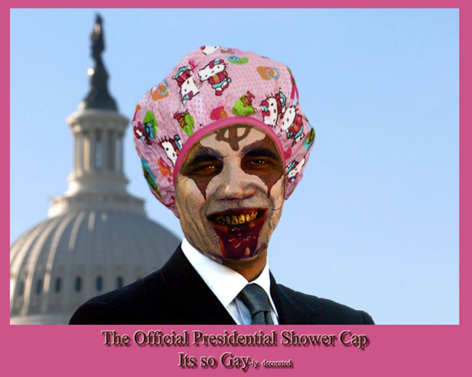 funny obama shower cap