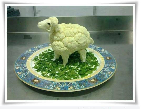 funny vegetable carving animal