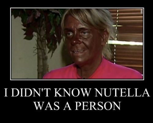 funny woman nutella
