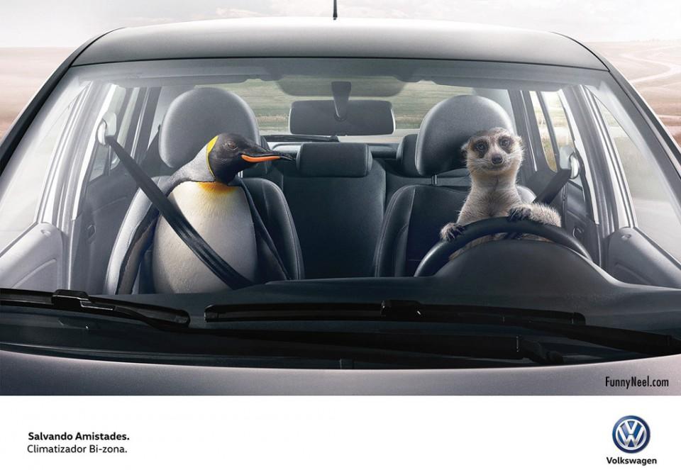 funny ads volkswagen animals