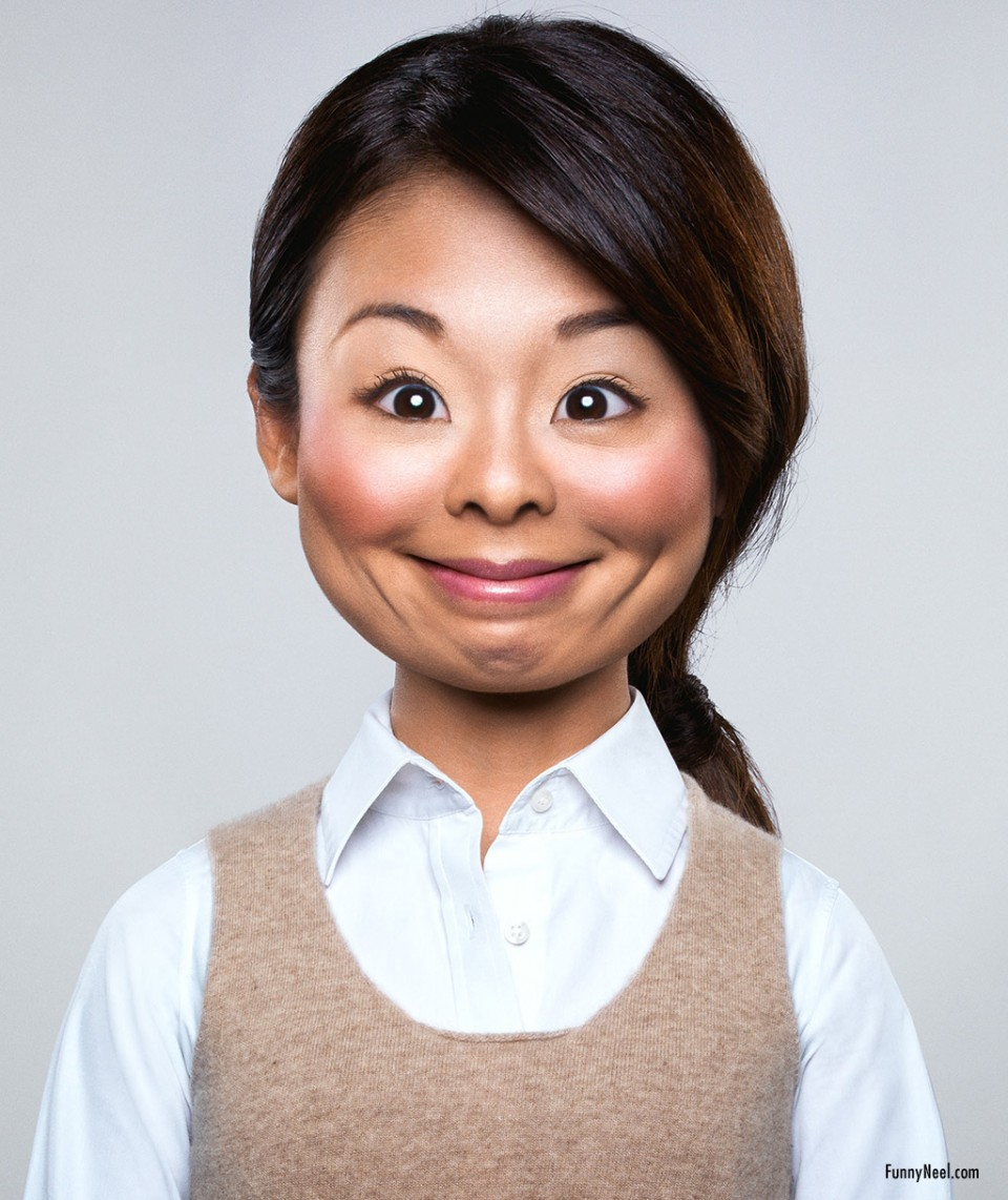 funny people face woman by cristian girotto
