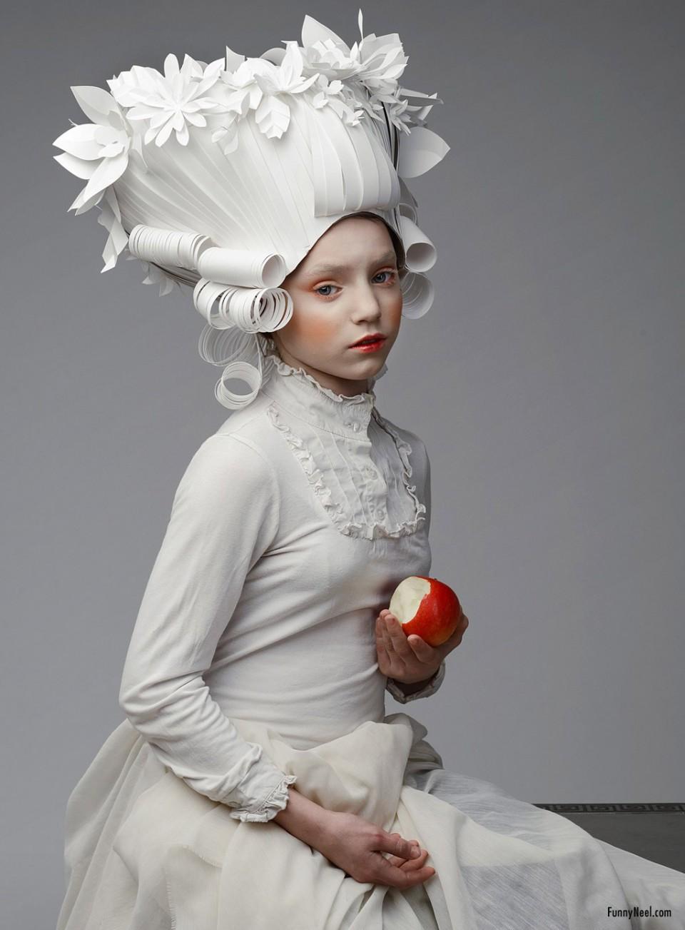 paper wig art creative diy