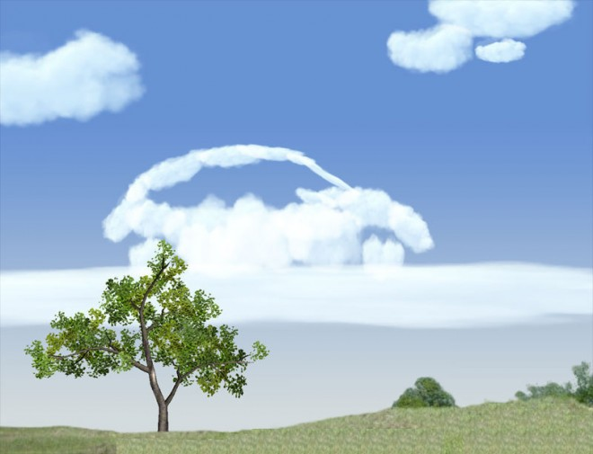 3d inspiring clouds picture