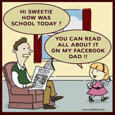 funny cartoon facebook daughter