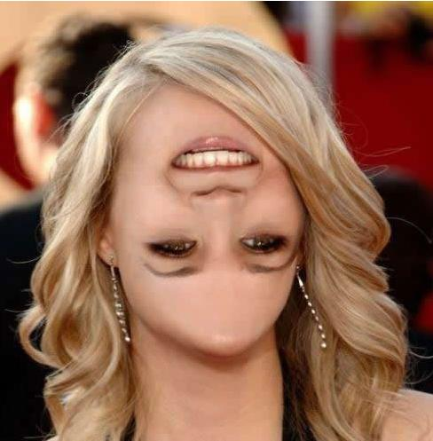 funny photomanipulation woman face