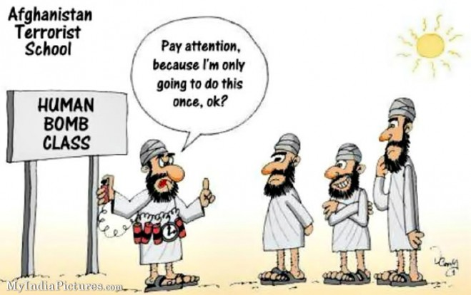 Funny cartoon terrorist