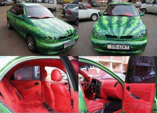 watermelon car painting funny