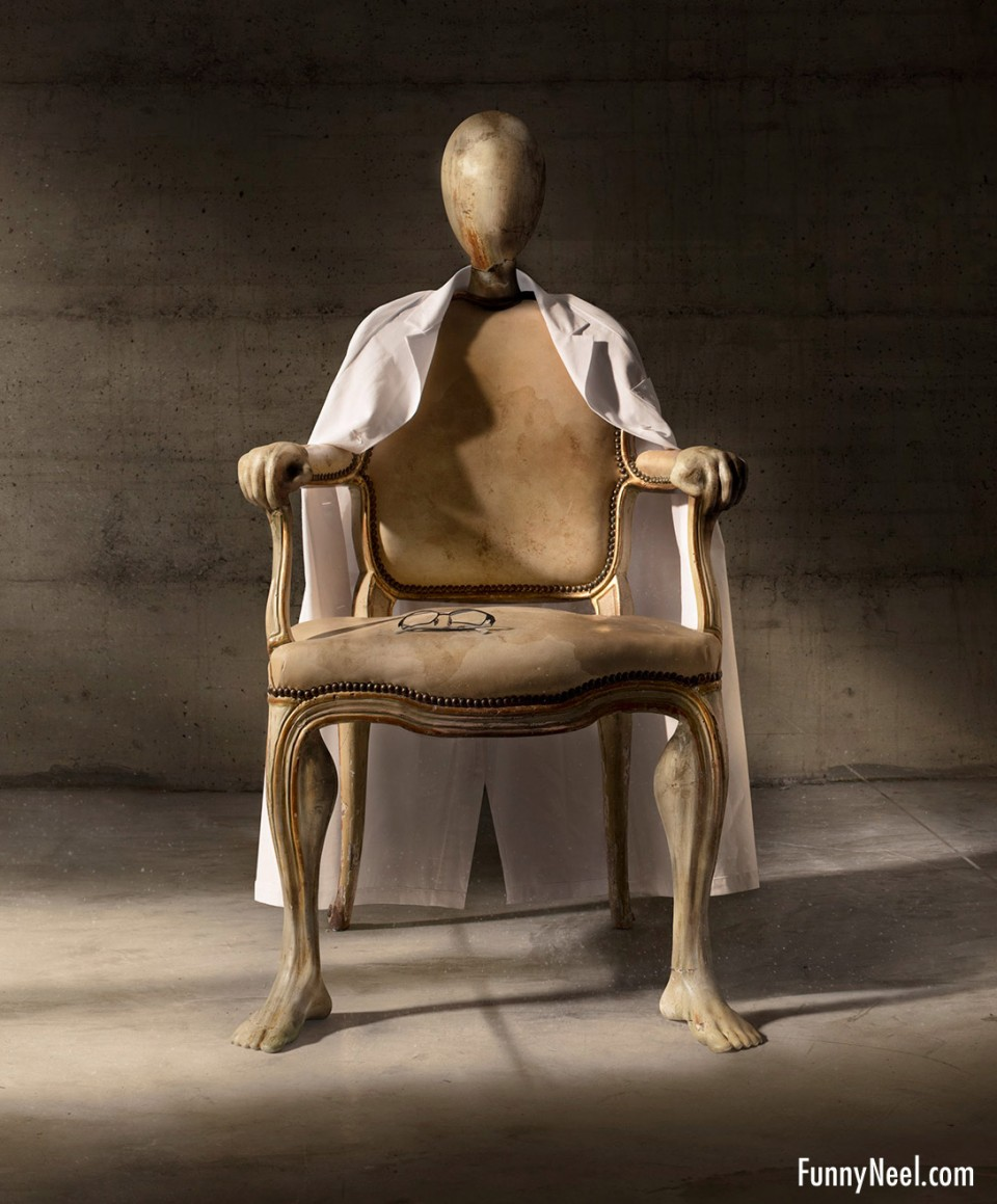 funny chair design ghost by b612 studio