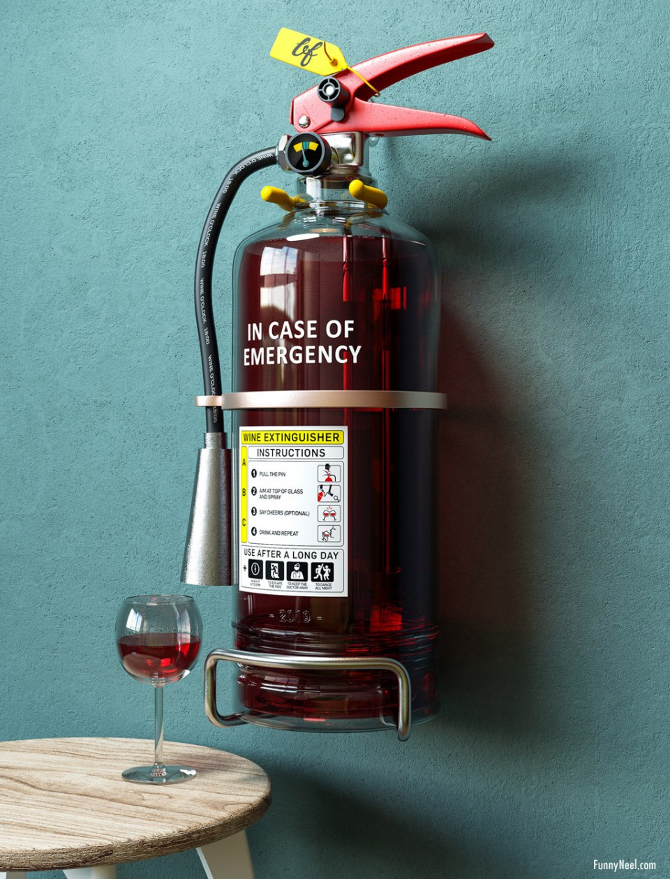 funny picture wineextinguisher by ben fernley