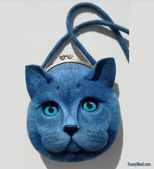 crazy cat purse