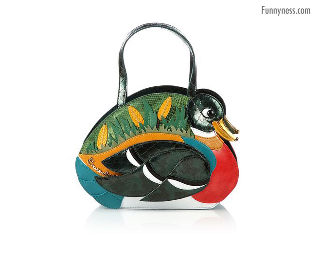 crazy duck shaped clutch