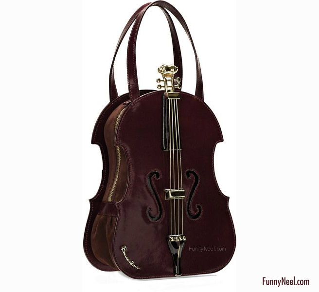 funny handbag ladies crazy violin