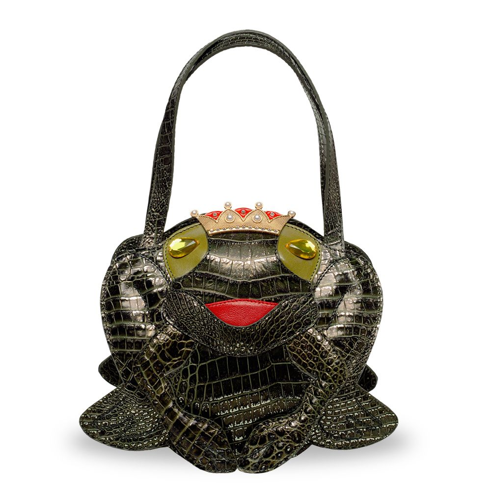 funny handbag ladies frog prince