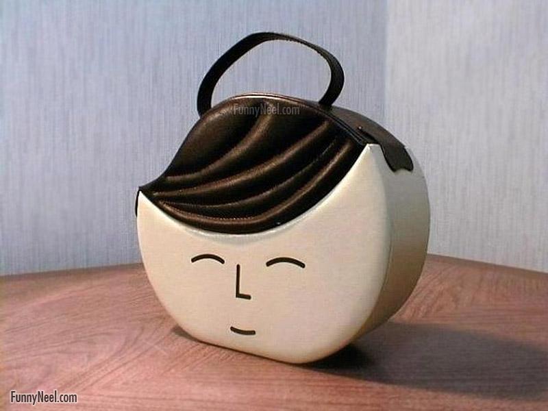 funny handbag ladies funny baby face