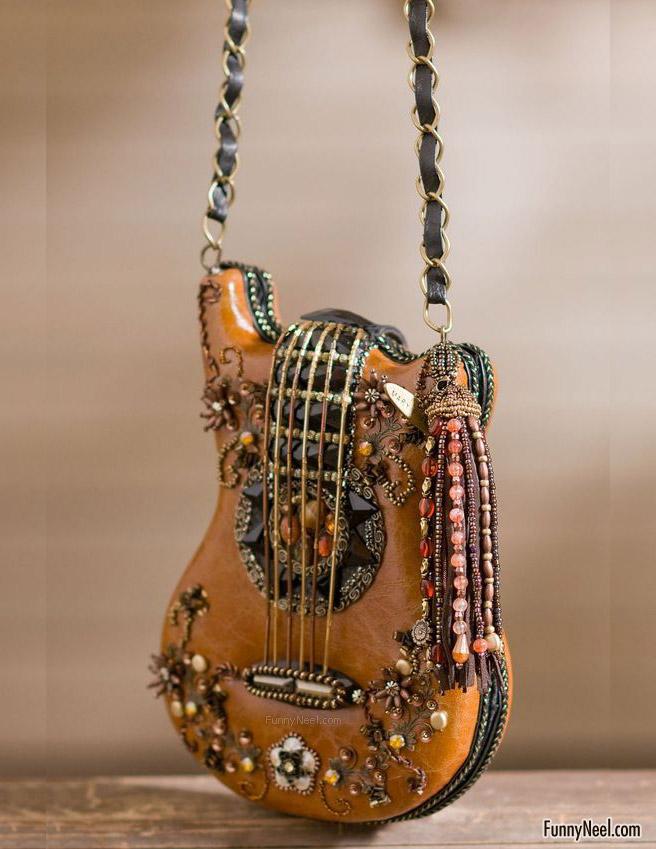funny handbag ladies weird violin bag