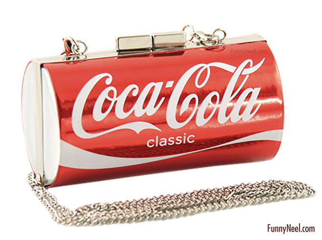funny party bag ladies cocacola tin