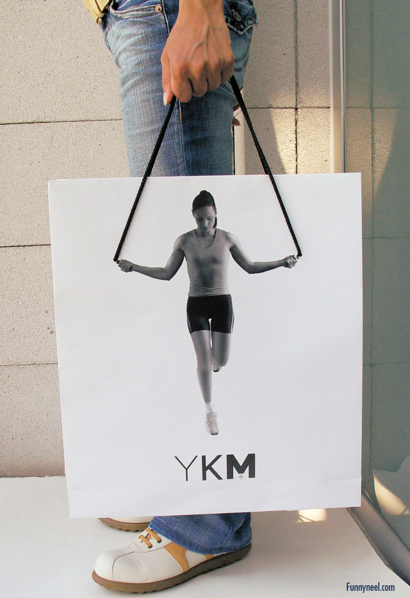 funny shopping bag with workout print