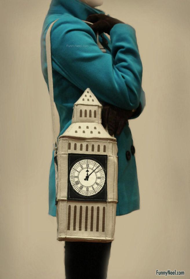 wierd tower hand bag