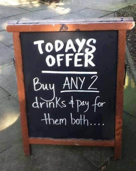 menu funny ads
